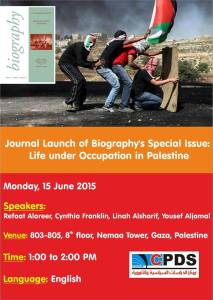 gaza Biography launch